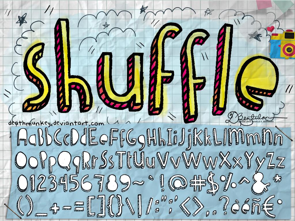 Shuffle font